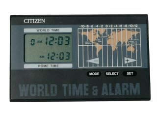 WORLD TIME & ALARM